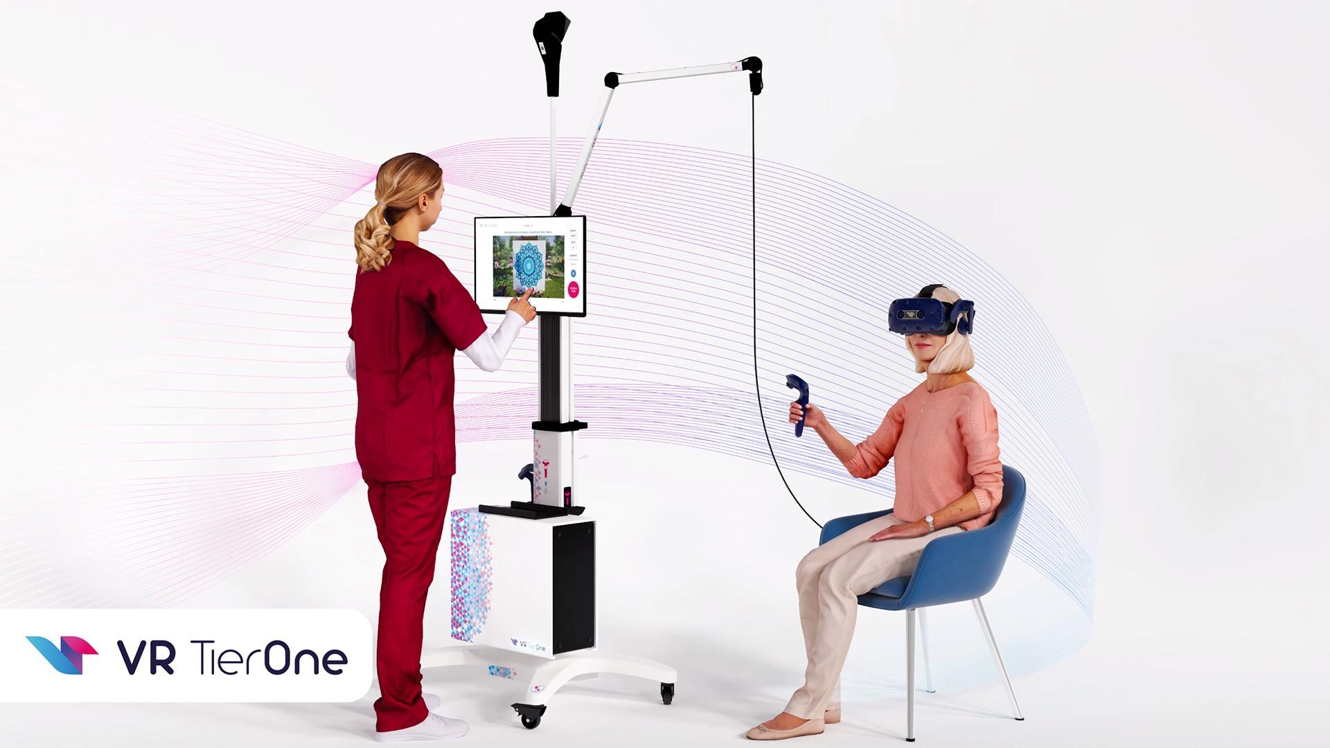 VR TierOne durch die Augen des Patienten und des medizinischen Personals gesehen